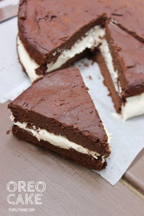 homemade OREO cake recipe {gluten-free-grain-free-dairy-free-egg-free-sugar-free}