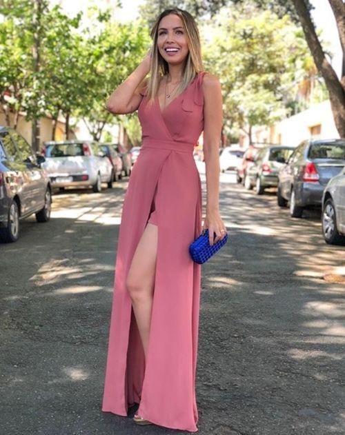 Vestido rosa para madrinha de casamento | Senior prom dresses, Evening dresses, Dresses