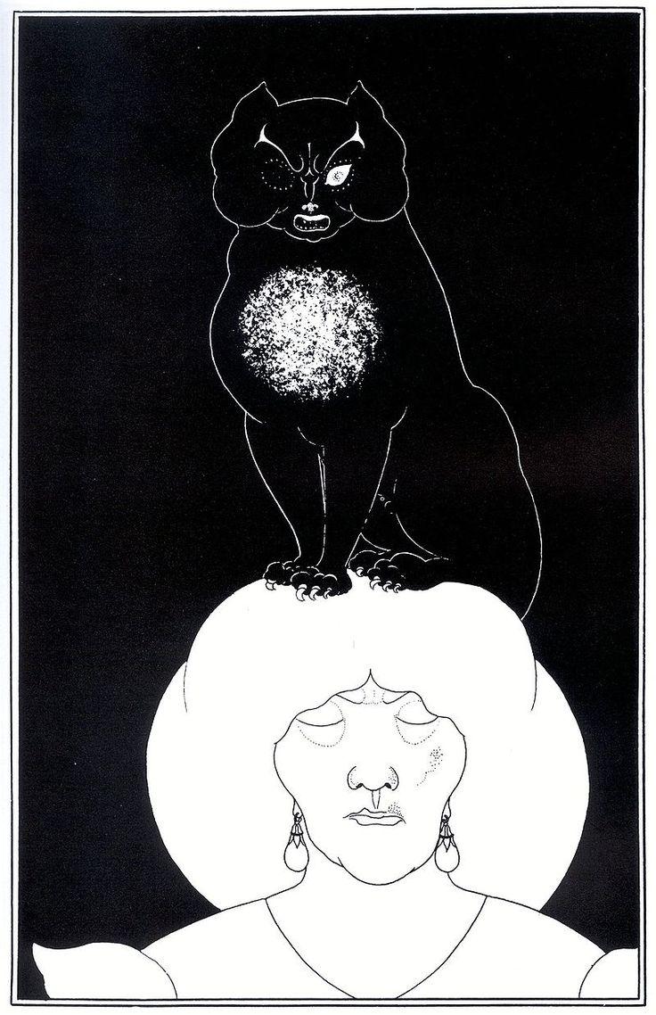 Aubrey Beardsley - Edgar Poe/Black Cat - オーブリー・ビアズリー
