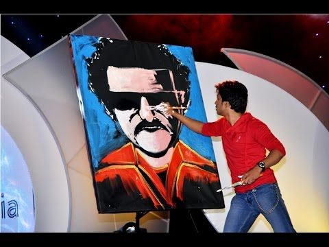 Tribute to thalaivar Rajinikanth...from India's emerging speed painter -...