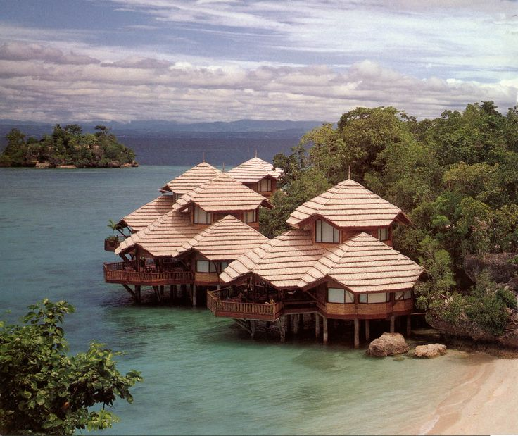 Philippine resort-house detail- I'd want part of my beach house property to have a stilt house