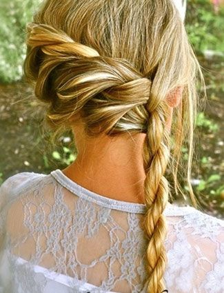 Waterfall braid - plait sits over one shoulder. For longer hair... - Clemi?