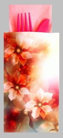 Gauzy Floral Cutlery Gift Pouch