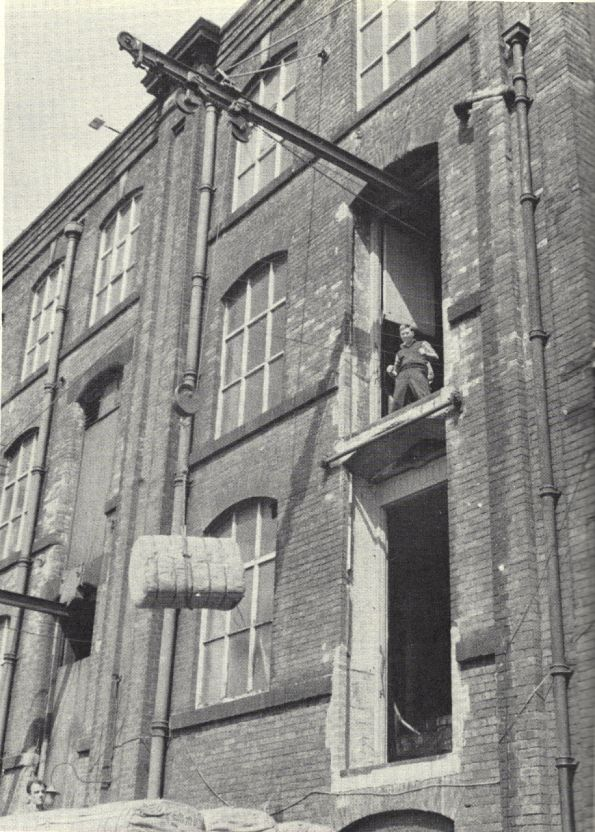 Loading raw cotton into the Coldhurst Mill, near Oldham. This is where My Mum met my Dad.......