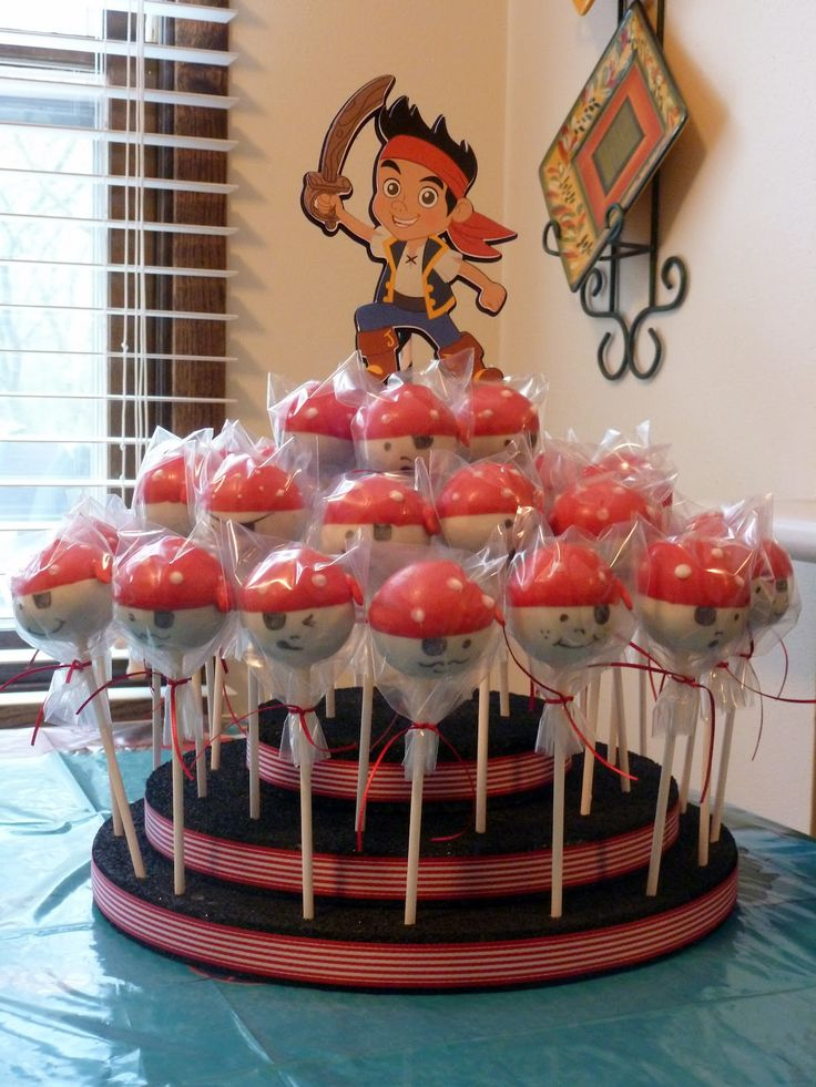 jake and the neverland party food - pirate cake pops