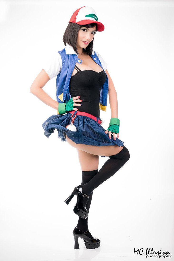 Anime Pokemon Character Ash Ketchum Version Gender Bender Cosplayer Ivette Maldonado