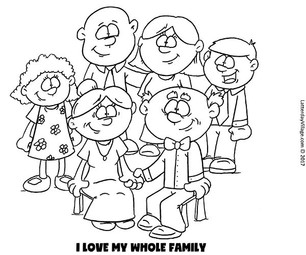 Primary 1 Sunbeam Manual Lesson 25 I Love My Whole Family
