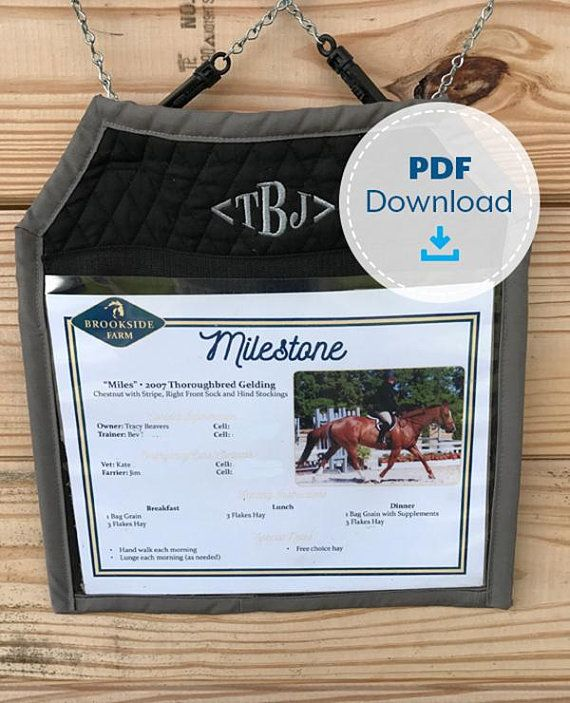 Horse Stall Card Holder Pattern Instant Download Sewing Etsy Horse Stalls Card Template Stall
