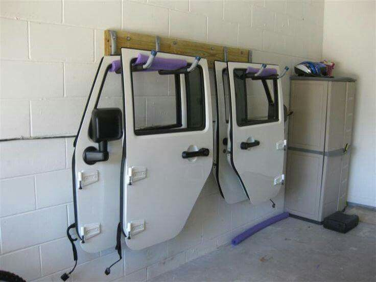 Store your Jeep doors