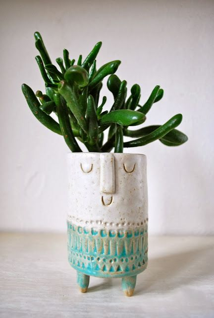 #pottery #planters #containers #pots Nature Decor for the Office: