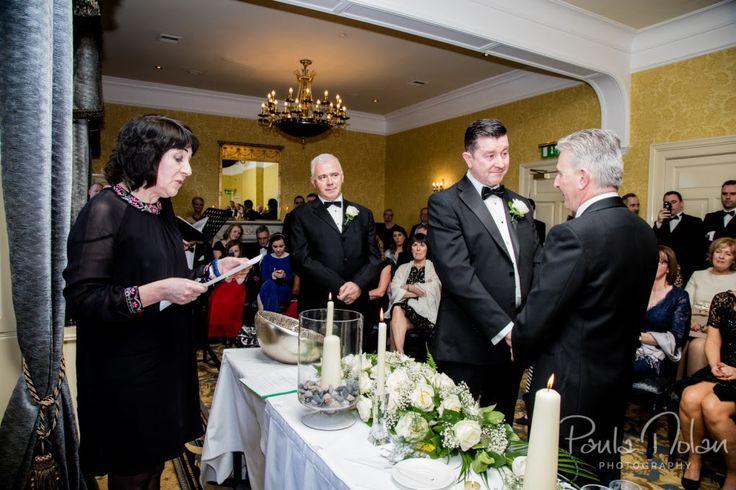 Joseph & Brendan Humanist wedding conducted by Joe Armstrong St Helen's Hotel, photos courtesy www.paulanolanphotography.ie