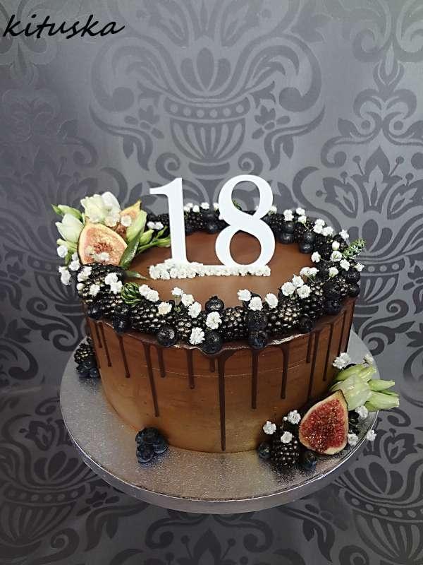 sladkých 18...čoko-ovocná tortička torta, Čokoládové torty