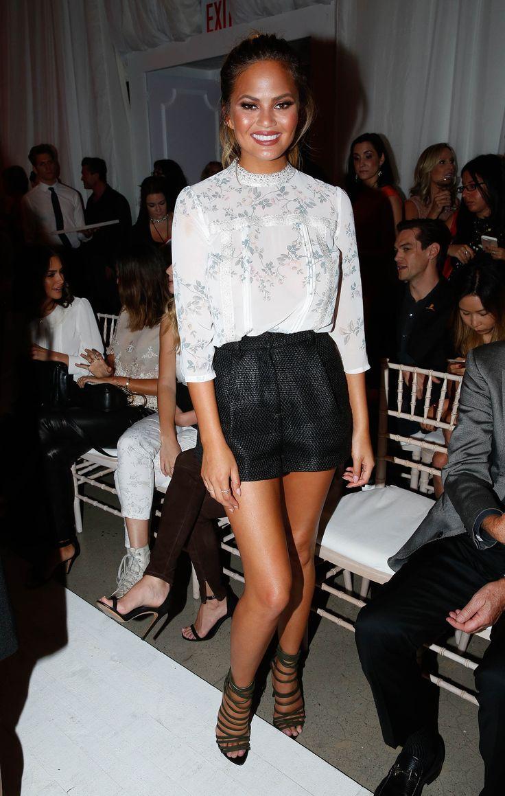 Chrissy Teigen à la Fashion Week de New York