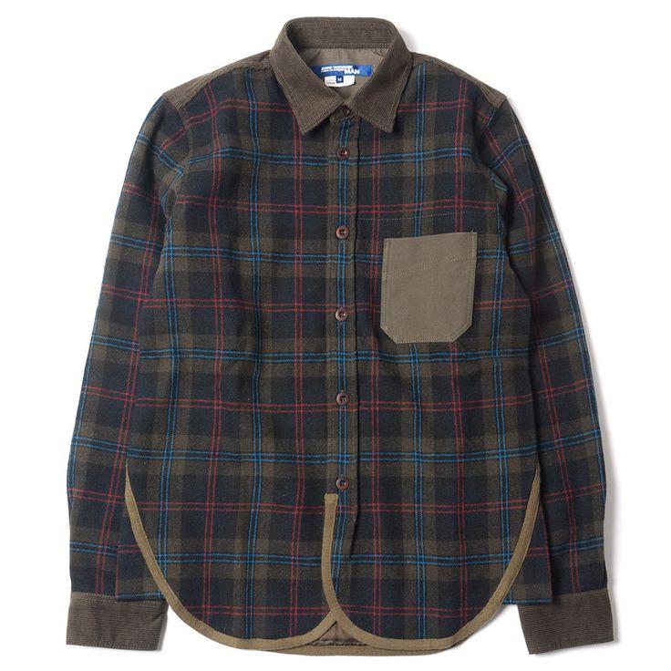JUNYA WATANABE MAN Mixed Wool Check Shirt