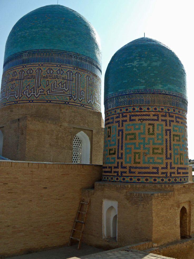 Mausoleum built for the wet nurse of Tamerlane. Necropolis of Shaki-Zinda, just outside Samarkand,  Uzbekistan