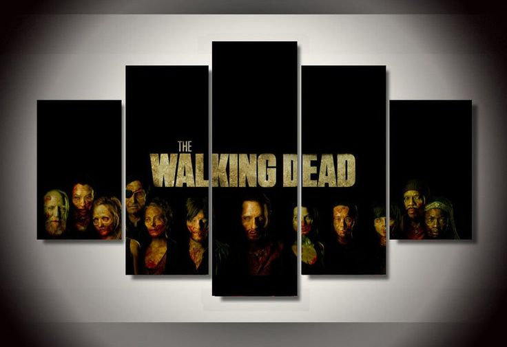 Limited Edition The Walking Dead Group Zombies Canvas Print – TC Discount Store