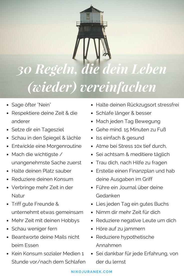 30 Regeln, die dein Leben (wieder) vereinfachen
