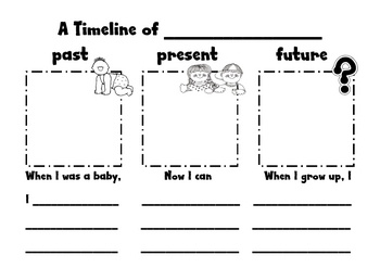 Help teach the concept of past, present, future with this