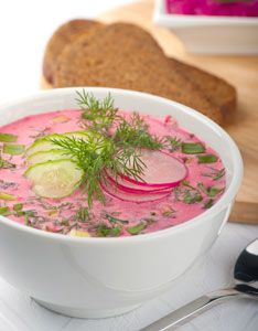 Milk Recipe: Polish Chlodnik Litewski (Cold Beet Soup)  Read more: http://www.motherearthnews.com/real-food/milk-recipe-chlodnik-litewski-polish-cold-beet-soup-zb0z11zalt.aspx#ixzz2xcO1wRW3
