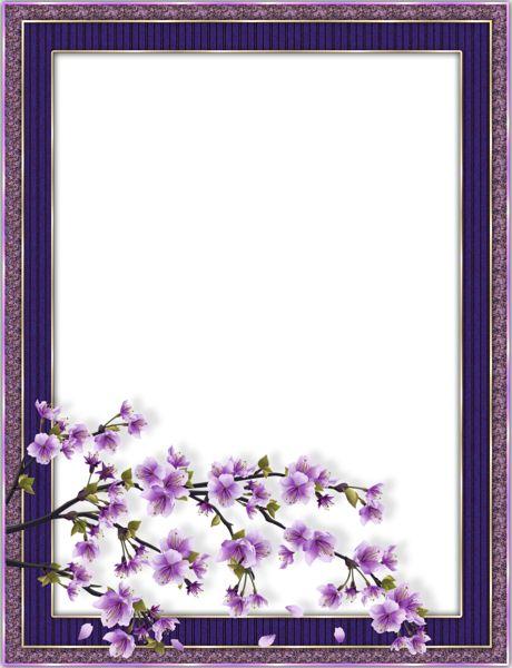 Purple Transparent Flower Frame
