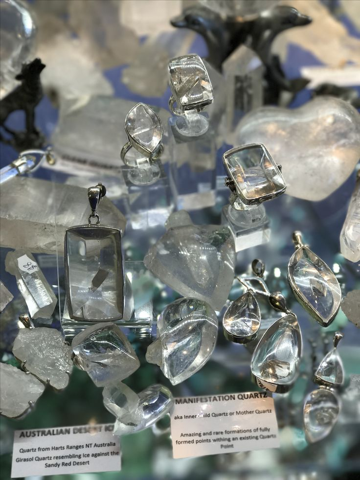 """Magnificent Manifestation Quartz in a range of pendants, rings and polished pieces available now at www.awakencrystals.com Manifestation Quartz Crystals are also known as """"Baby Within"""" or """"Inner Child"""" crystals."""