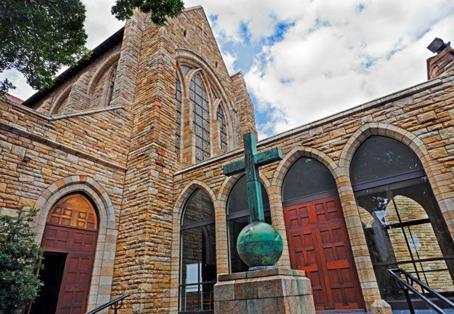 St Georges Cathedral -known as 'the people's cathedral' because of its role in the resistance against apartheid.