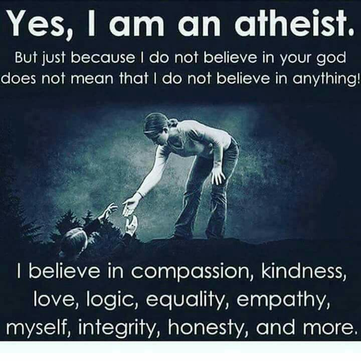 Im not an atheist but i do believe in all the other stuff