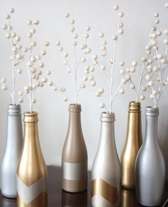 Мастер-класс: Декор винной бутылки краской-спреем