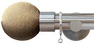 Jones Strand 35mm Curtain Pole Matt Nickel, Putty Rope Ball