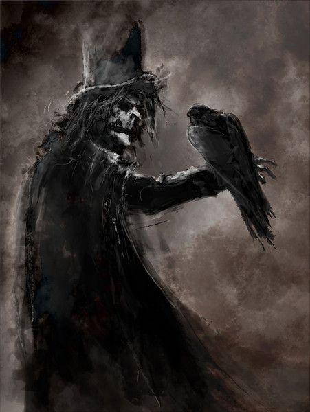 raven crow half man - photo #12