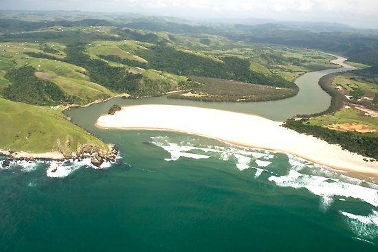 Beautiful coastline & inland view of the Wild Coast, Eastern Cape, South Africa. Wild Coast Transkei 9 by Warren. A. Williams.