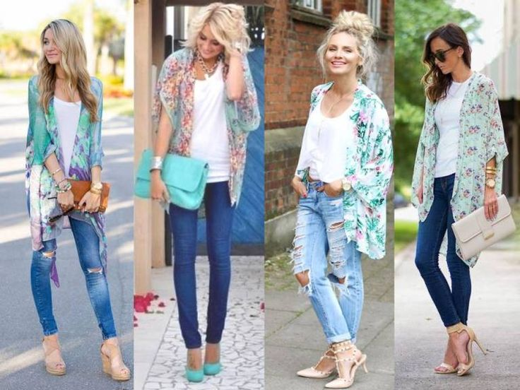 kimono styling ideas, Casual mint outfits styling ideas http://www.justtrendygirls.com/casual-mint-outfits-styling-ideas/