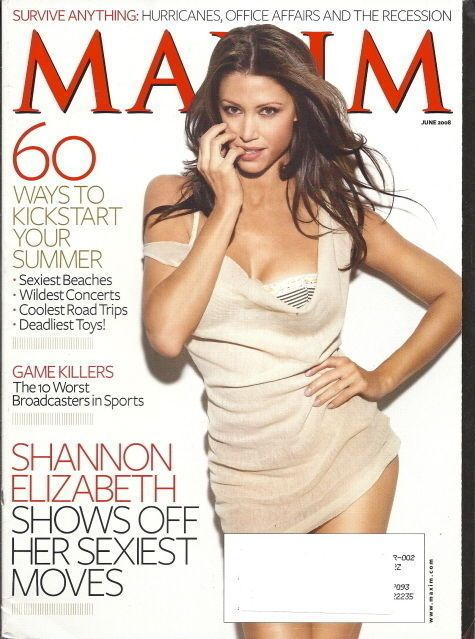 Shannon Elizabeth Maxim Magazine Jun 2008 Worst Sports Broadcasters