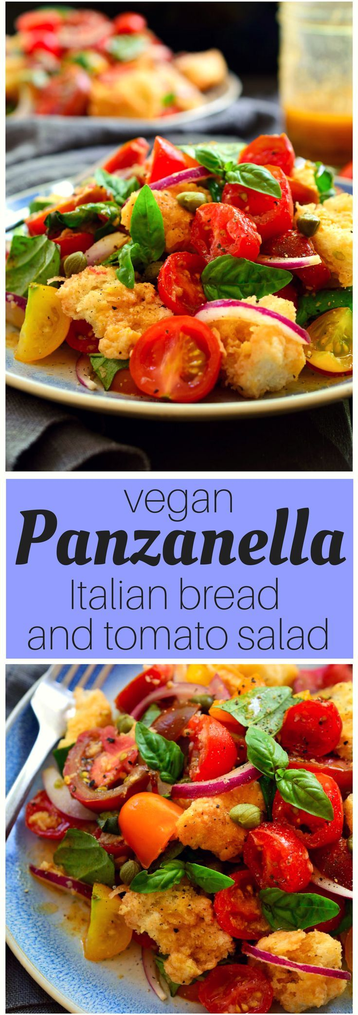 Panzanella is a simple, rustic Italian bread and tomato salad that bursts with flavour despite its humble ingredients. Fresh tomatoes, basil, red onion and day-old bread in a tangy, umami (thanks to an unusual ingredient) vinaigrette are all you need to enjoy this bright and colourful salad!