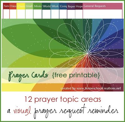 Free printable prayer cards to record prayer requests, answers to prayer, and Scriptures for all areas of your prayer life.