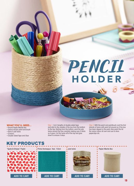 DIY Pencil holder - Click through for instructions
