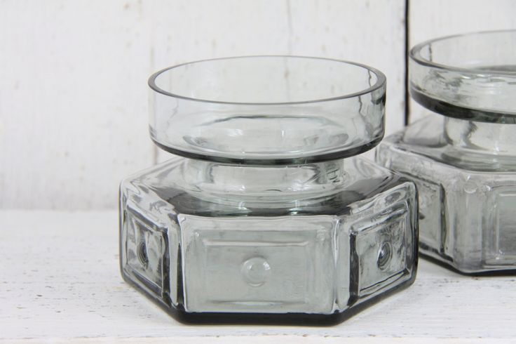 Vintage Dartington Glass Pair of Vases