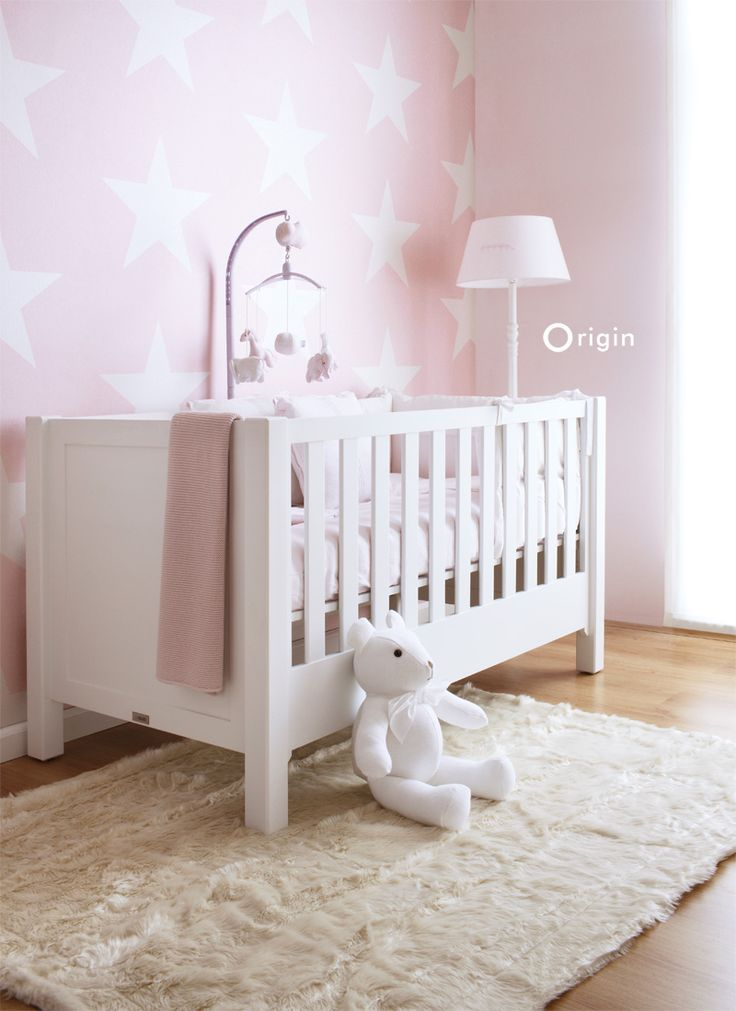Origin luxury wallcoverings, non-woven wallpaper star soft pink, collection upstairs downstairs