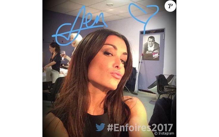 """Jenifer dans les coulisses du show des Enfoires, """"2017 : Mission Enfoirés"""". Janvier 2017."""