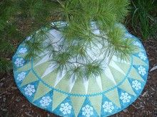 Let It Snow Christmas Tree Skirt (from HoopSisters)