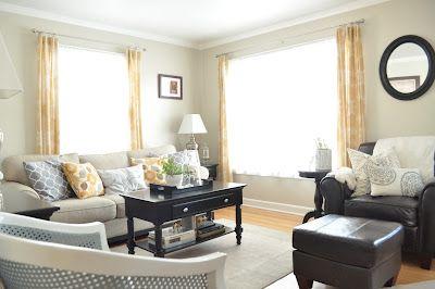 Valspar Oatlands Subtle Taupe Tan Living Room Paint Color