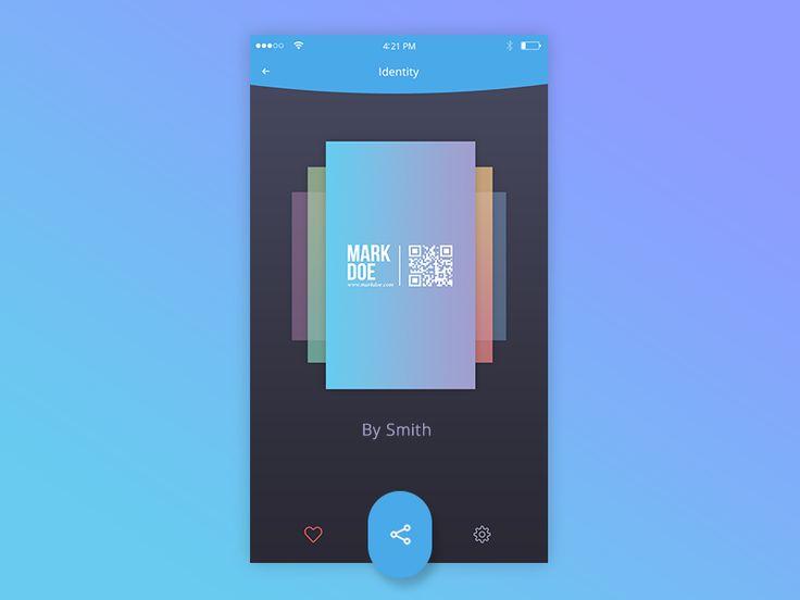 Inside view of card (bcard app)
