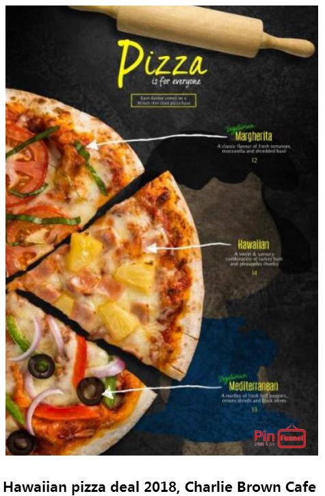 Best Hawaiian pizza specials deal 2018 at Charlie Brown Cafe, Orchard Road, Singapore, the best comics themed cafe at Cathay Cineleisure Orchard. It is Singapore MUIS Halal certified restaurant and cafe.