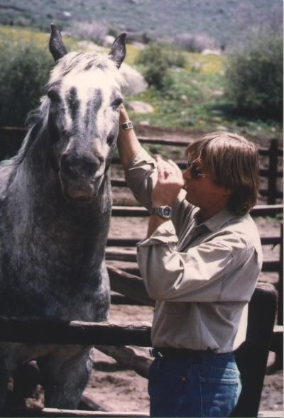 John and his horse.