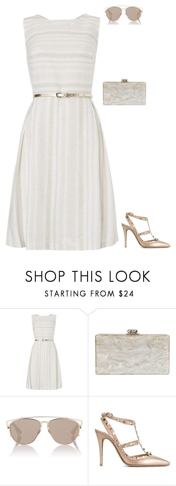 """""""Untitled #1614"""" by jessie-hatton3 ❤ liked on Polyvore featuring Edie Parker, Christian Dior and Valentino"""