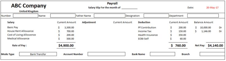Employee payslip template free download for excel Excel Templates #SampleResume #PayslipTemplate