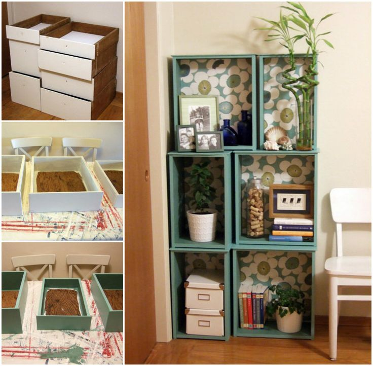 I am going to have to try this as I have several dressers that  can be repurposed.  Salvaged-Drawer-Bookshelf