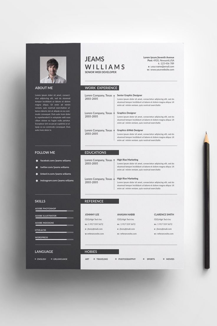 A4 Paper Size With Bleeds Quick And Easy To Customize Templates Change Customize Easily In Ms Word P Modele De Cv Creatif Modele De Cv Professionnel Modele Cv