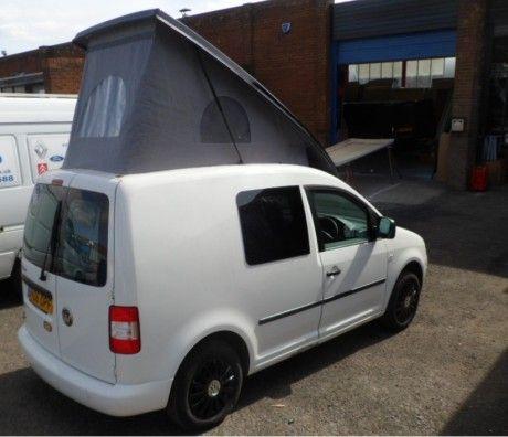 vw caddy super slim line swb rear elevator campervan roof. Black Bedroom Furniture Sets. Home Design Ideas