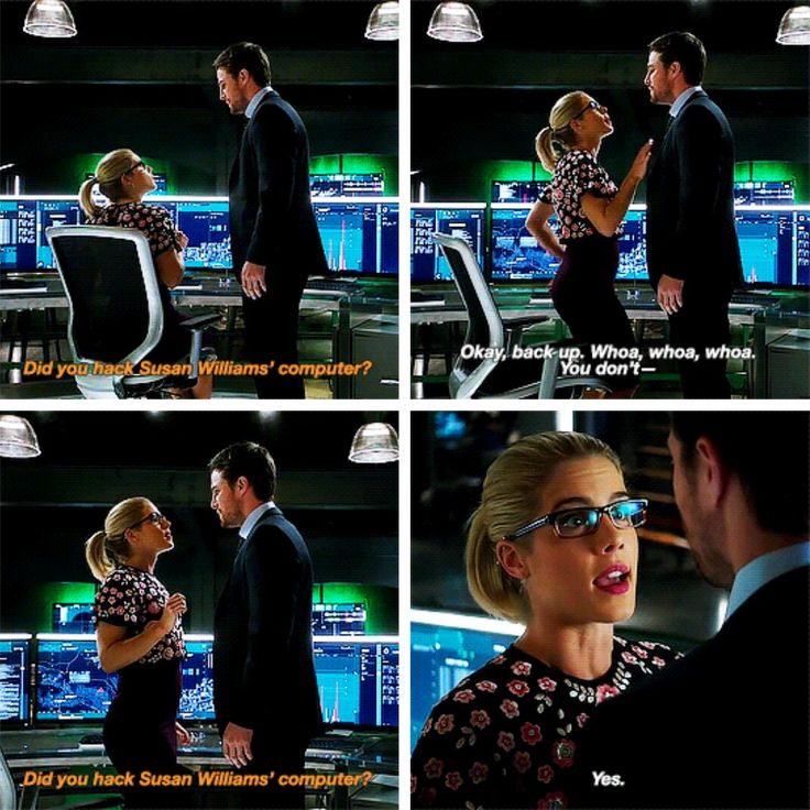 """Did yoy hack Susan Williams' computer?"" - Oliver and Felicity #Arrow"